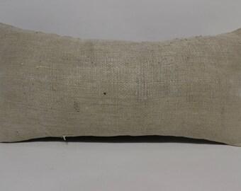 12x24 decorative pillow throw pillow tribal pillow 12x24 home decor beige kilim pillow vintage kilim pillow lumbar pillow sham  SP3060-1573