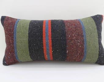 kilim pillows striped pillow body pillow indoor 10x20 turkish pillows lumbar cushion cover vintage kilim pillows throw pillows  SP2550-1663