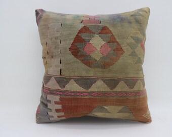 20x20 GeometricDecorative Kilim Pillow Sofa Pillow Desing Kilim Pillow Sofa Pillow Naturel Kilim Pillow Cushion Cover Multicolor SP5050-2736