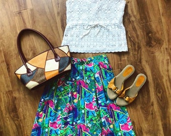 Colourful Midi Skirt
