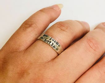 Name ring, Personalized ring, custom ring, Stackable ring, Stacking rings, hand stamped ring, stackable name ring, personalized jewelry