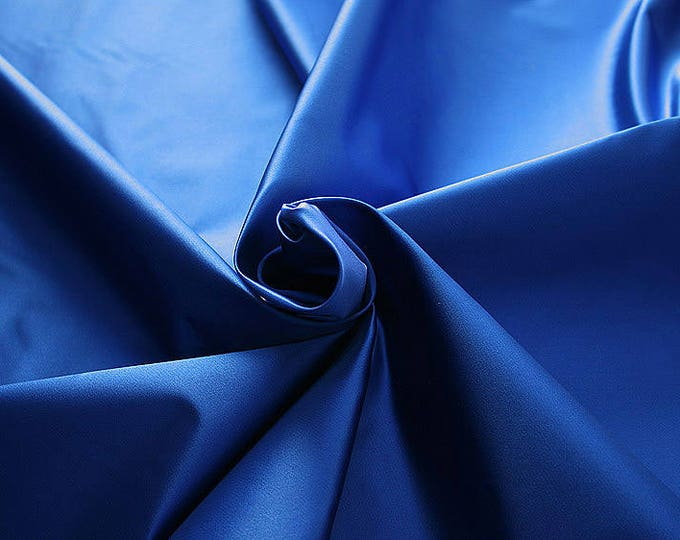 276141-Satin Natural silk 100%, width 135/140 cm, made in Italy, dry cleaning, weight 180 gr