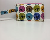 Small project bag, project bag, knitting project bag, knitting bag, crochet bag, zipper bag