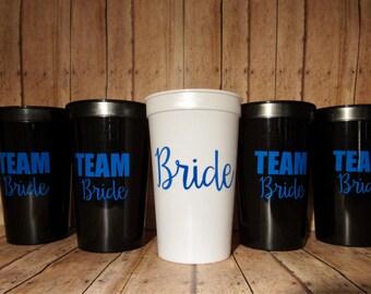 Team Bride Cup, Bride Cup or Both!! 22oz stadium personalized cup!