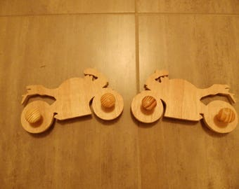 Coat rack double bike for children's room