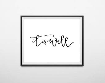 It is Well - Calligraphy Print