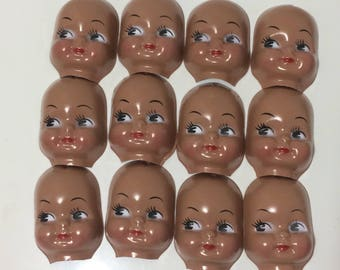Lot of 12 Vintage Doll Faces