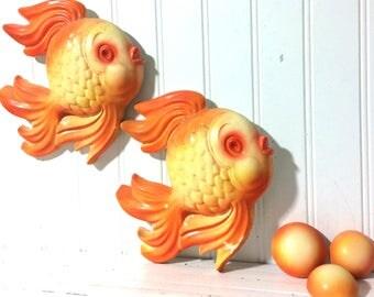 Vintage Chalkware Fish plus Bubbles