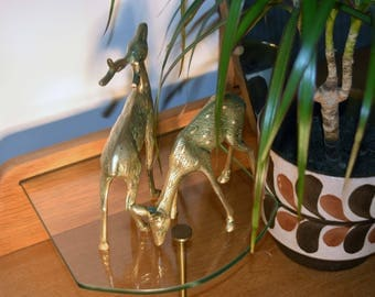 Vintage/Retro Brass Stag and Doe