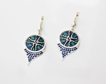 Earrings by Cloisonne Enamel