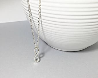 Infinity necklace, infinity charm, love necklace, friendship necklace, to infinity and beyond, gift for friend, infinity, friends forever