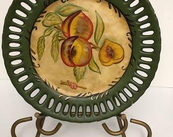 Vintage Distressed Porcelain Plate