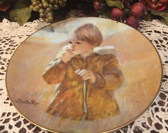 Collectors Plate Children Autumn Wanderer by Thornton Utz
