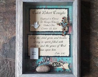 Gift for Baptism, Adult Baptism, Customized Confirmation Gift for Boy, Personalized Gift from Sponsor, Gift from Godparent, Christian Gift