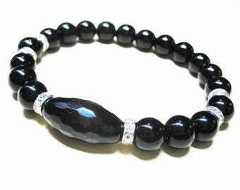 Black Onyx Bracelet Women Bracelet Spiritual Bracelet Protection Bracelet Energy Bracelet Healing Bracelet Gemstone Bracelet Gift for Her
