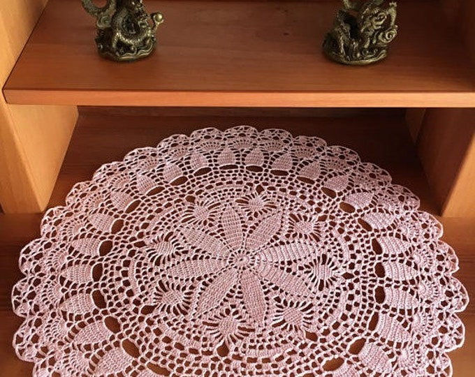 Round tablecloth Rustic decor Crochet coaster Kitchen coasters Coffee Table Doily Centerpiece Doily Central & Desktop Decor Crochet.