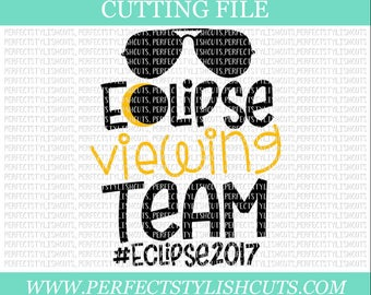 Eclipse Viewing Team Svg, Eclipse 2017 SVG, Solar Eclipse Svg, DXF, EPS, png Files for Cutting Machines Cameo or Cricut - Moon Svg, Sun Svg