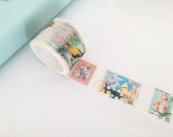 Duct tape, Masking tape, Washi tape style postage stamp, snail mail