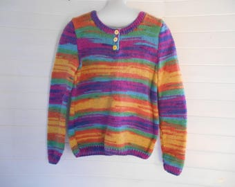 Multicolor angora blend sweater.