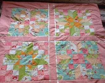 Gorgeous Pastel Jelly Roll Quilt ,Throw,Baby Quilt.