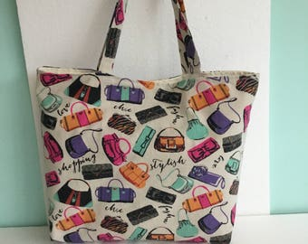 REDUCED - Tote bag - funky eco tote - eco tote