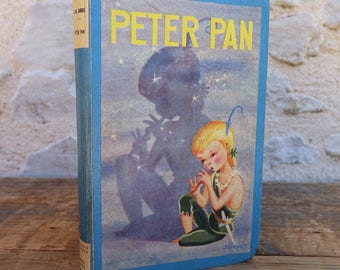 """Book novel Peter Pan - 1953 - graphic novel vintage collectible cornflower - SAM editions """"Featured"""" Carlo mounted"""