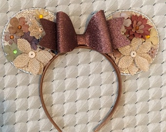 Fall inspired Disney minnie Mickey Mouse ears