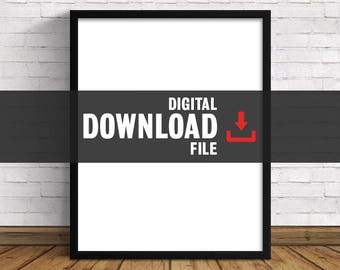 Front Row Design Co.  |  Digital Download File  |  Purchase Then Download File