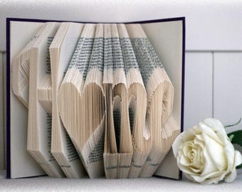 Home Folded Book - Housewarming - Christmas - Mother's day - Realitor - House - Grandma - new home - moving - Move in -