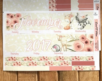 November Monthly Kit, Erin Condren Monthly Kit, April Monthly View,March Monthly Planner Stickers, Monthly Sticker Kit