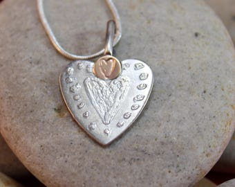 Sterling Silver Reverse Etched Pendant (011218-017)