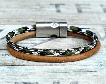 Mens bracelet, Braided bracelet, woven bracelet, mens rope bracelet, mens leather bracelet, mens wrap bracelet, paracord bracelet, mens gift