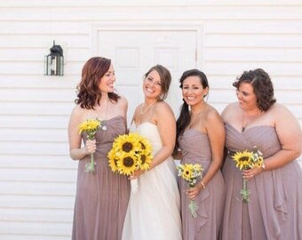 Sunflower bouquet set! Sunflower wedding bouquet set, bridal bouquet, sunflower bouquet package, free boutonnière