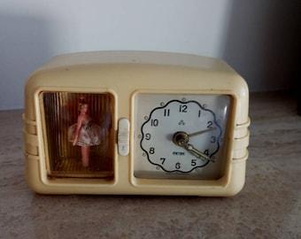 GERMAN 1950u0027S PETER BALLERINE Musical Clock, German Peter Ballerine Alarm  Table Clock,Vintage 1950s
