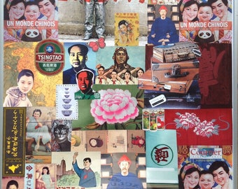 Painting collage on the theme of China