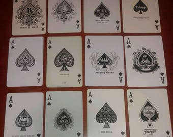 12 different ace of spades Lot A