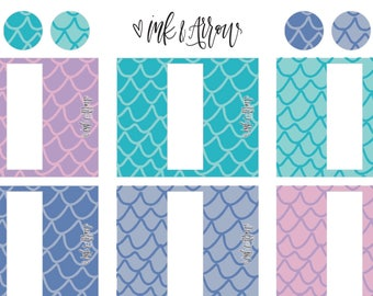10ml Essential Oil Rollerball Labels | Mermaid Scales