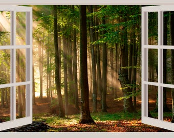Window Wall Decal Etsy - 3d window wall decals
