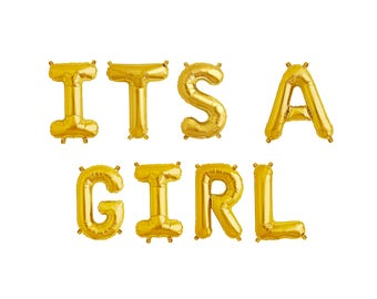 """ITS A GIRL Letter Balloons 