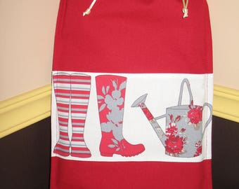 Bag for older children: my watering can and boots in red