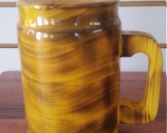 wooden beer stein, 15 oz.