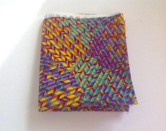 Rainbow Striped Cotton Fabric | Fat Quarter