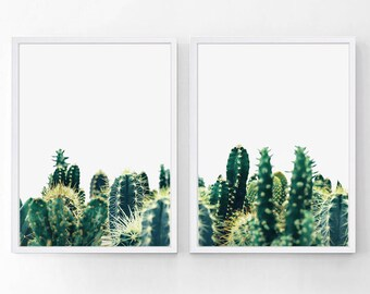 Cactus Print, Cactus Poster, Cactus Wall Art, Cactus Photo, Cactus Art, Printable Cactus, Cactus Decor,  Set of 2 Prints, Digital Download
