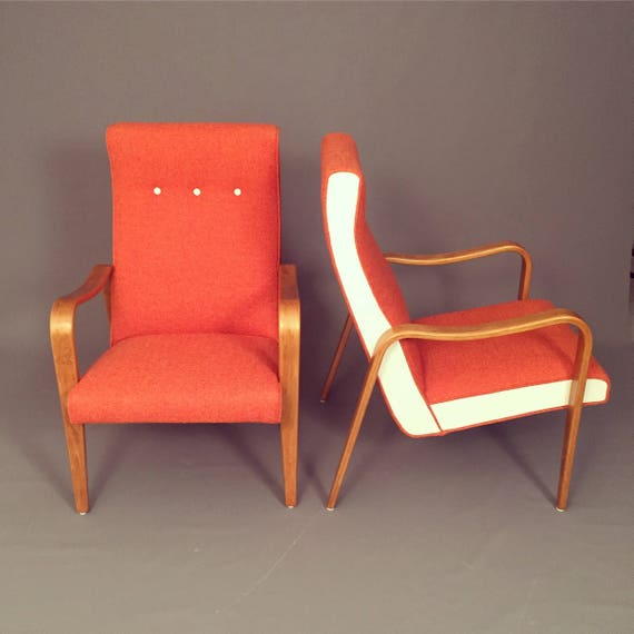 Mid-Century Thonet Bentwood lounge chairs