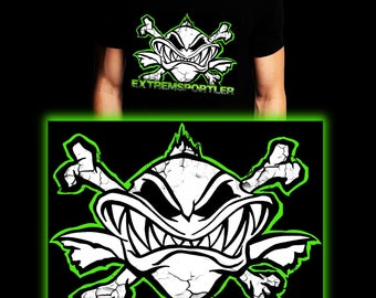 Extreme Athlete Green | Waller | Carp | Catfish | Fishing T-shirt | S-3XL