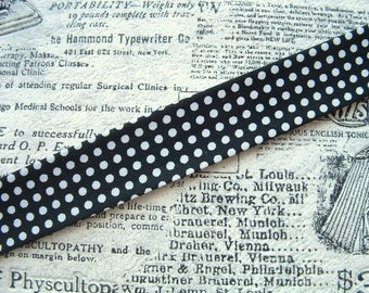 1 M of fabric color black with white dots width 20mm for jewelry Creations
