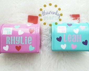 Kids Valentine's Day Mini Mailbox // Personalized Tin Mini Mailbox // Custom Tin Mini Mailbox // Kids Valentine's Day Gift // Mini Mailbox