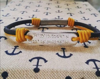 Customized Nautical Bracelet - Men bracelet