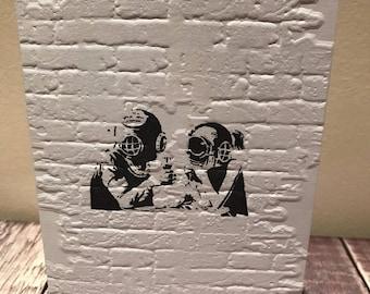 Banksy inspired card, birthday card, thank you card