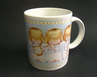 Vintage Hallmark 3 Angels Coffee Mug Tea Cup